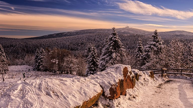 View of Brocken mountain from Torfhaus